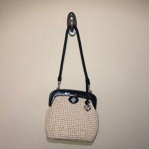 Brighton straw wicker purse